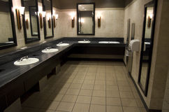 Elegant public bathroom Stock Photos