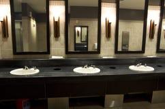 Elegant public bathroom Royalty Free Stock Photos