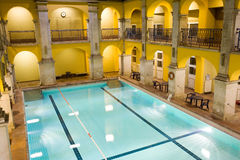Elegant public baths interior Royalty Free Stock Images