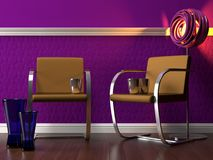 Elegant purple interior Stock Image