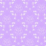 Elegant purple pastel color background and white drawings. vector illustration