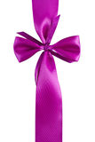 Elegant purple ribbon and bow Royalty Free Stock Photo