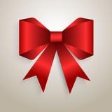 Elegant röd pilbåge Arkivfoto