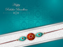 Elegant Rakhi for Brother and Sister bonding in Raksha Bandhan festival from India. In vector greeting background Royalty Free Stock Photos