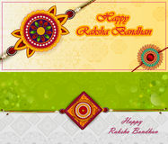 Elegant Rakhi for Brother and Sister bonding in Raksha Bandhan festival from India. In vector greeting background Royalty Free Stock Images