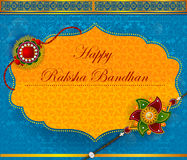 Elegant Rakhi for Brother and Sister bonding in Raksha Bandhan festival from India. In vector greeting background Royalty Free Stock Image