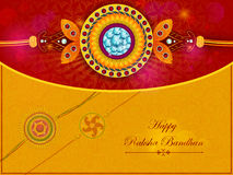 Elegant Rakhi for Brother and Sister bonding in Raksha Bandhan festival from India Stock Images
