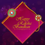 Elegant Rakhi for Brother and Sister bonding in Raksha Bandhan festival from India. In vector greeting background Royalty Free Stock Photography