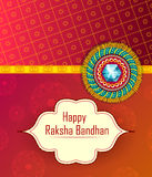 Elegant Rakhi for Brother and Sister bonding in Raksha Bandhan festival from India. In vector greeting background Stock Images