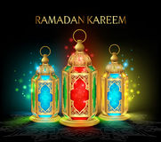 Elegant Ramadan Kareem Lantern or Fanous Stock Photos