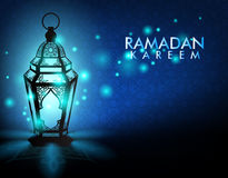 Elegant Ramadan Kareem Lantern or Fanous Stock Photo