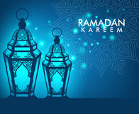 Elegant Ramadan Kareem Lantern or Fanous Royalty Free Stock Photography