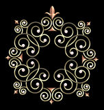 elegant ramswirltappning Royaltyfri Bild
