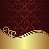 Elegant red Background with golden Border Royalty Free Stock Photos