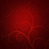 Elegant red background with golden swirls. Elegant christmas background with golden swirls Stock Images