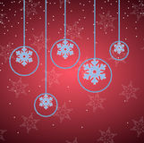 Elegant red christmas background Royalty Free Stock Photos