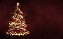 Elegant red christmas background Royalty Free Stock Photos