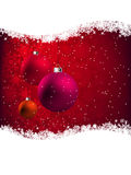 Elegant Red Christmas Card. EPS 8 Stock Photo
