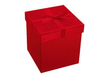 Elegant red christmas or Valentine's Day present Stock Images