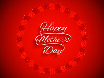 Elegant red color card design for Women's day. Stock Images