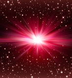Elegant red festive background. With stars Stock Image