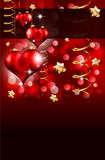 Elegant Red and Gold Valentine's Day Flayer. For important invitation Royalty Free Stock Photography