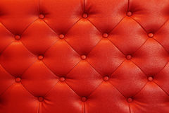 Elegant red leather texture with buttons for background and desi Royalty Free Stock Images