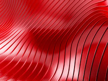 Elegant red metallic background with curved lines Royalty Free Stock Photo