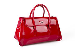 Elegant red purse Royalty Free Stock Image