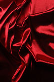 Elegant red satin Stock Image