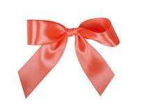 Elegant red, scarlet gift ribbon bow, satin Stock Image