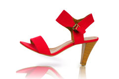 Elegant red shoes Stock Photo