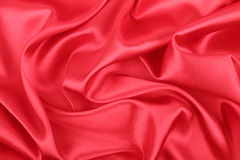 Elegant red silk background Royalty Free Stock Images