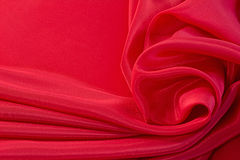 Elegant red silk background Stock Photo