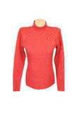 Elegant  red  sweater on a white. Stock Image