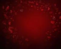 Elegant red Valentine's background Stock Photo