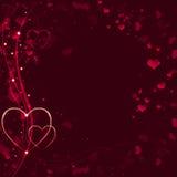 Elegant red Valentine's background Royalty Free Stock Image