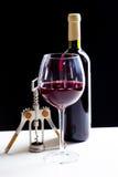 Elegant red wine glass Stock Images