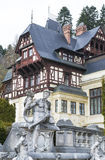 Mansion with statues Stock Photos