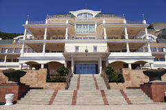 Elegant resort mansion entrance Royalty Free Stock Image