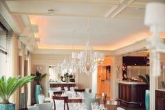 Elegant restaurant Royalty-vrije Stock Foto's