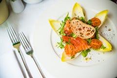 Elegant Restaurant Appetizer stock images