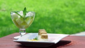 Elegant Restaurant Food stock video footage