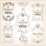 Elegant restaurant labels Stock Photo