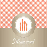 Elegant restaurant menu card Stock Images