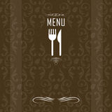 Elegant restaurant menu design Royalty Free Stock Photography