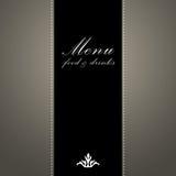Elegant restaurant menu design Royalty Free Stock Images
