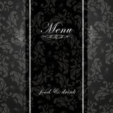 Elegant restaurant menu design Stock Photography