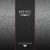 Elegant restaurant menu design Royalty Free Stock Photo