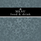 Elegant restaurant menu design Royalty Free Stock Image